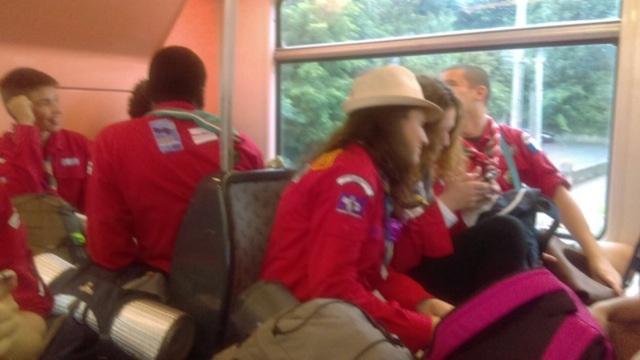10/07 les rouges de Cergy et d'Ermont partent à la recherche du soleil en RER...